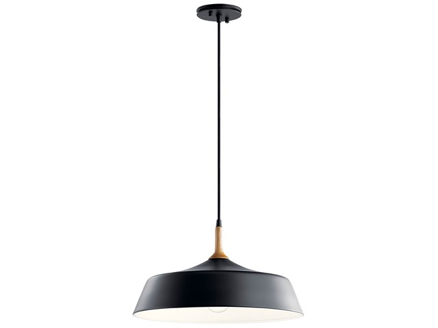 Danika 1 Light Pendant Black