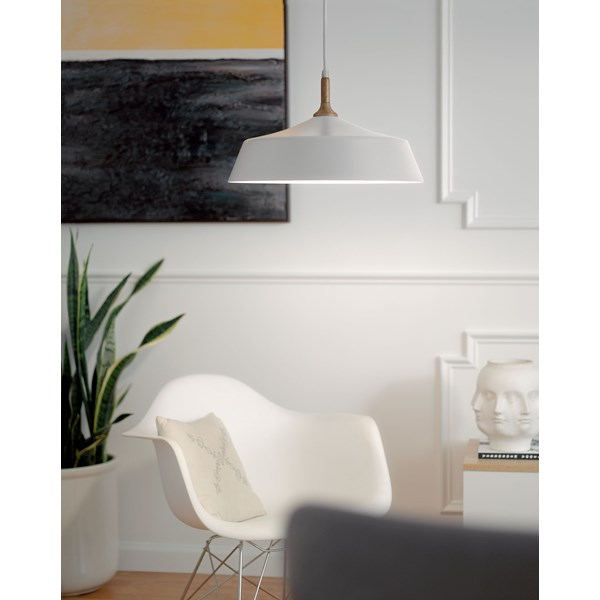 Danika 1 Light Pendant White