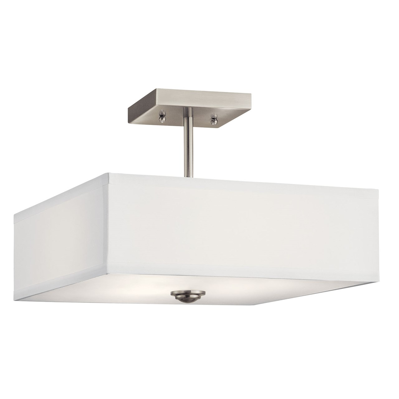 "Shailene™ 14"" 3 Light Semi Flush Brushed Nickel"