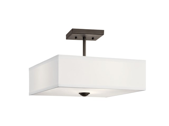 "Shailene™ 14"" 3 Light Semi Flush Olde Bronze®"