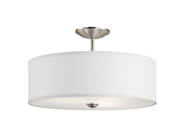 "Shailene™ 18"" 3 Light Semi Flush Brushed Nickel"
