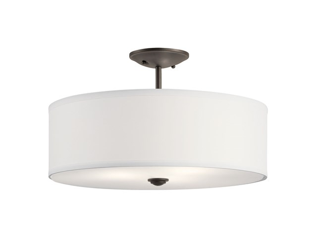 "Shailene™ 18"" 3 Light Semi Flush Olde bronze"