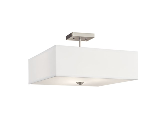 Shailene™ 3 Light Square Semi Flush Brushed Nickel