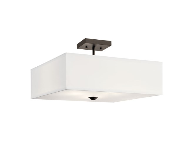 Shailene™ 3 Light Square Semi Flush Olde Bronze®