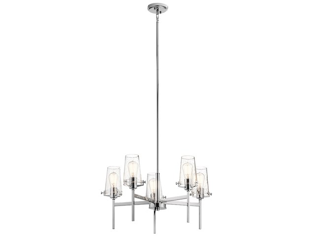 "Alton 27"" 5 Light Chandelier Chrome"