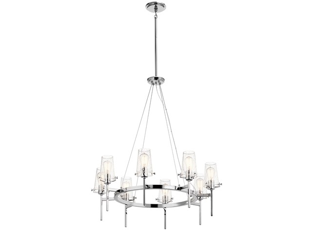 "Alton 38"" 8 Light Chandelier Chrome"
