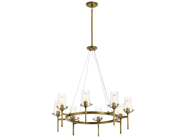 "Alton 38"" 8 Light Chandelier Natural Brass"