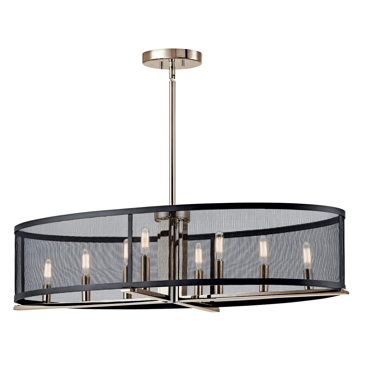 Titus 8 Light Oval Chandelier Polished Nickel Kichler Lighting
