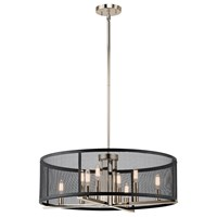 Titus 8 Light Chandelier Polished Nickel