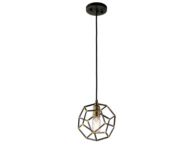 Rocklyn™ 1 Light Mini Pendant Raw Steel