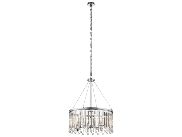 Piper 6 Light Chandelier Chrome