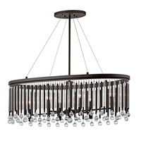 Piper 6 Light Oval Chandelier Espresso