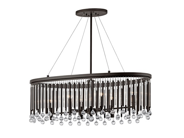 Piper™ 6 Light Oval Chandelier Espresso