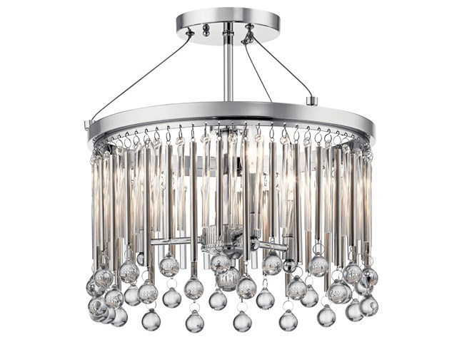 Piper Semi Flush 3 Light Chrome