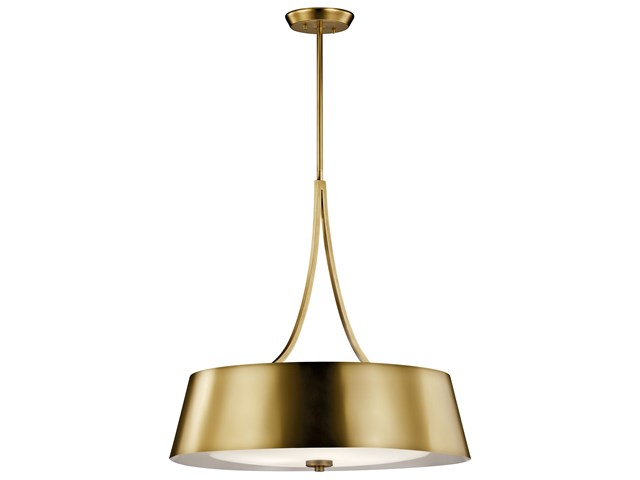 Maclain 4 Light Round Pendant Natural Bronze
