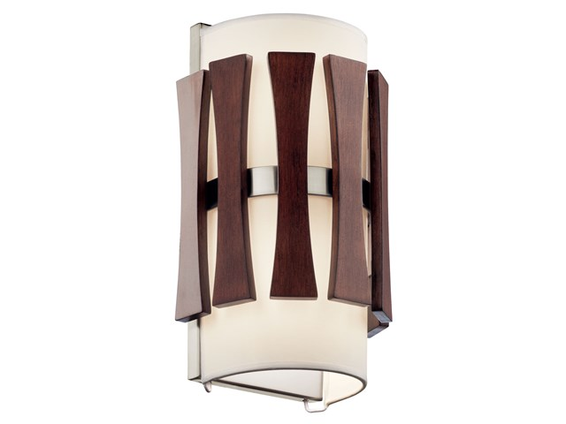 Cirus™ 2 Light Wall Sconce Auburn Stain