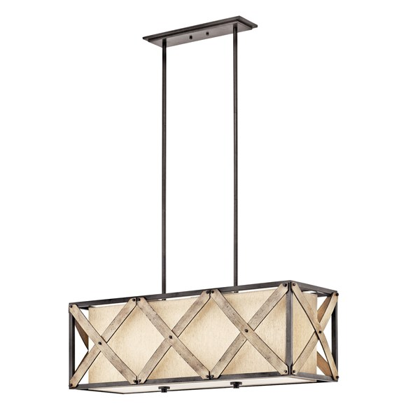 Cahoon™ 3 Light Linear Chandelier Anvil Iron