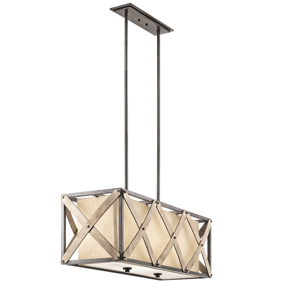 Cahoon™ 3 Light Linear Chandelier Anvil Iron™