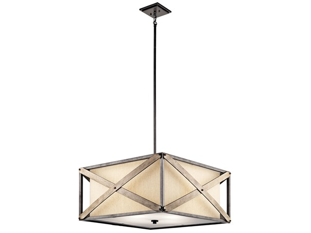Cahoon™ 4 Light Convertible Pendant Anvil Iron™