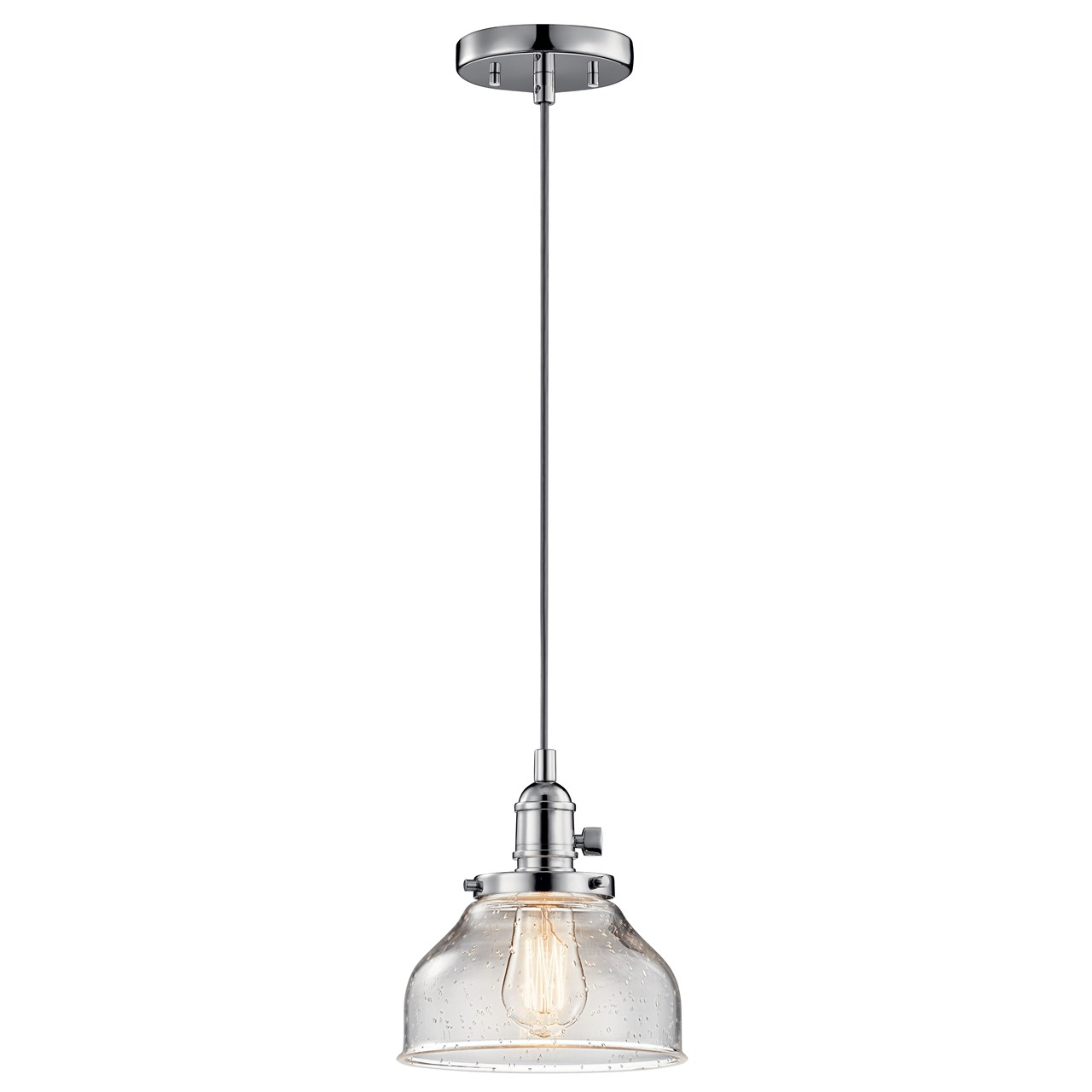 Avery™ 1 Light Bell Mini Pendant Chrome