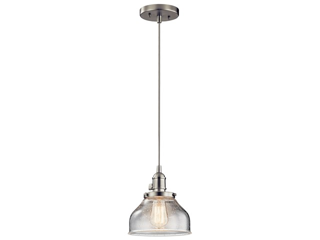 Avery™ 1 Light Bell Mini Pendant Brushed Nickel