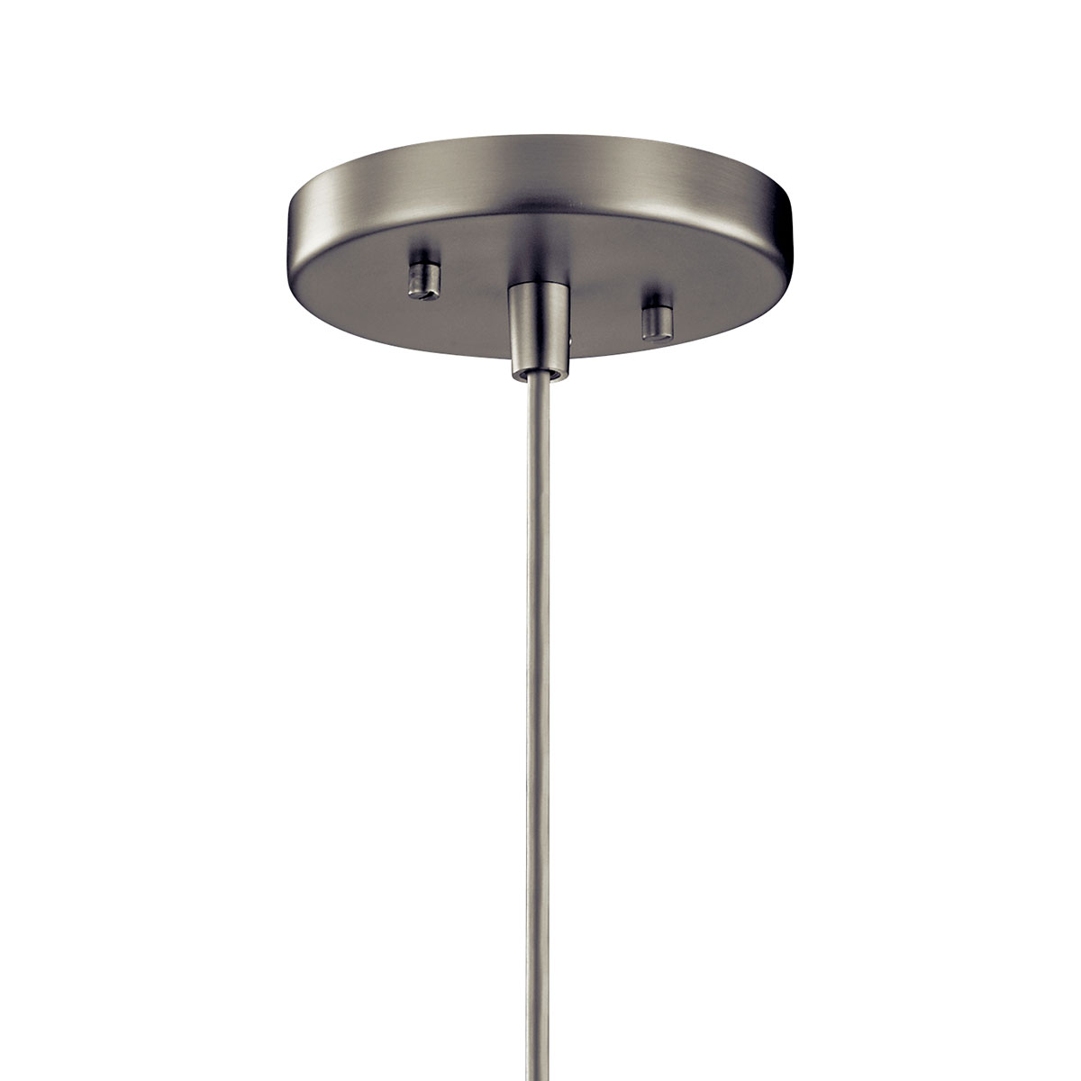 Image of: Avery 1 Light Cone Mini Pendant Brushed Nickel Kichler Lighting