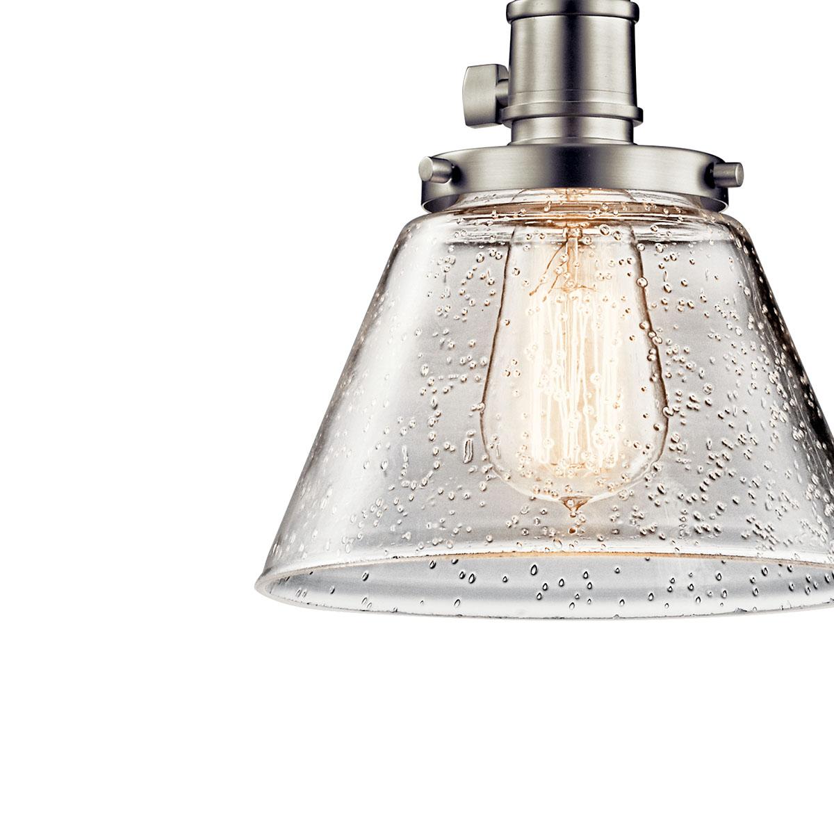 Avery 1 Light Cone Mini Pendant Brushed Nickel Kichler Lighting