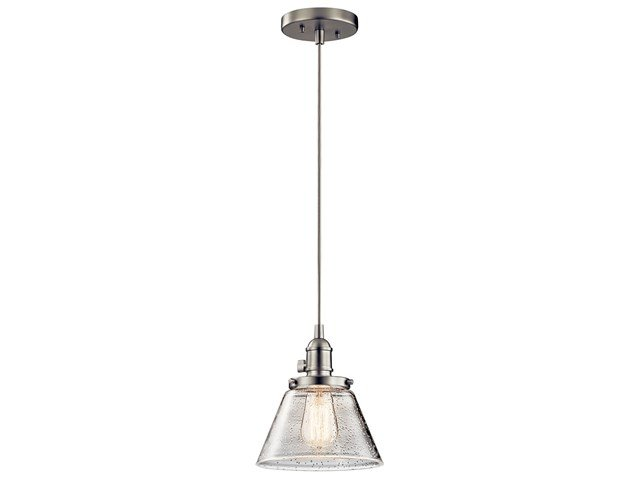 Avery™ 1 Light Cone Mini Pendant Brushed Nickel