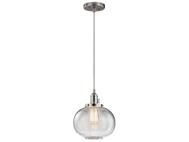 "Avery™ 9.75"" 1 Light Mini Pendant Brushed Nickel"