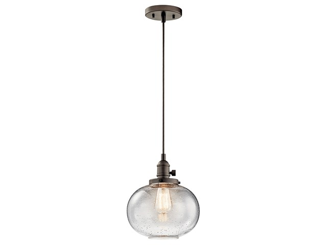 "Avery™ 9.75"" 1 Light Mini Pendant Olde Bronze®"
