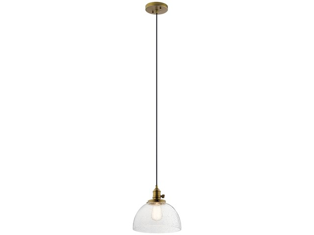 "Avery 10"" 1 Light Goblet Mini Pendant Natural Brass"