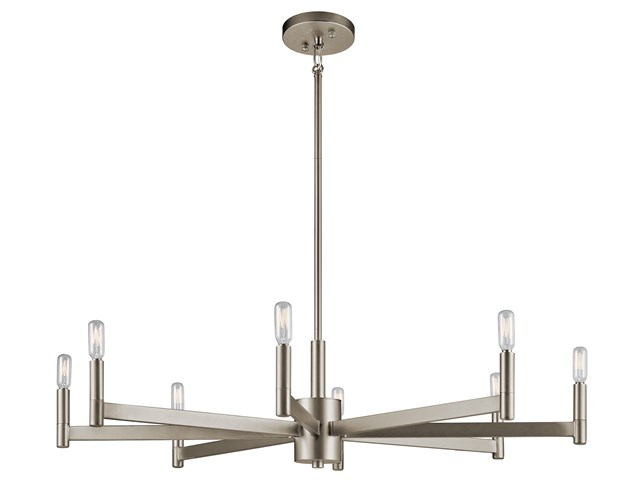 Erzo™ 8 Light Chandelier Satin Nickel