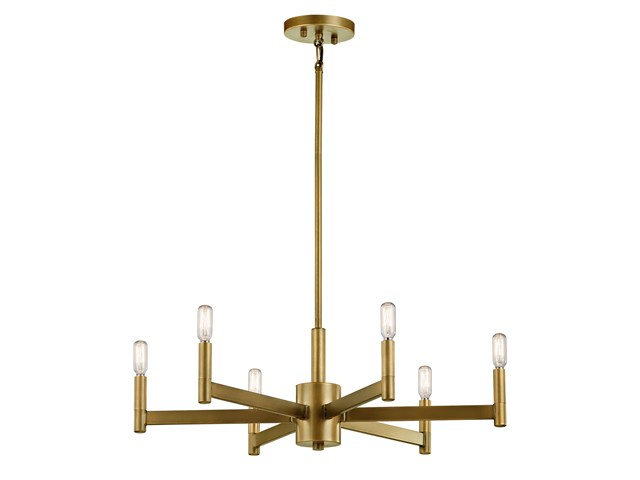 Erzo™ 6 Light Chandelier Natural Brass