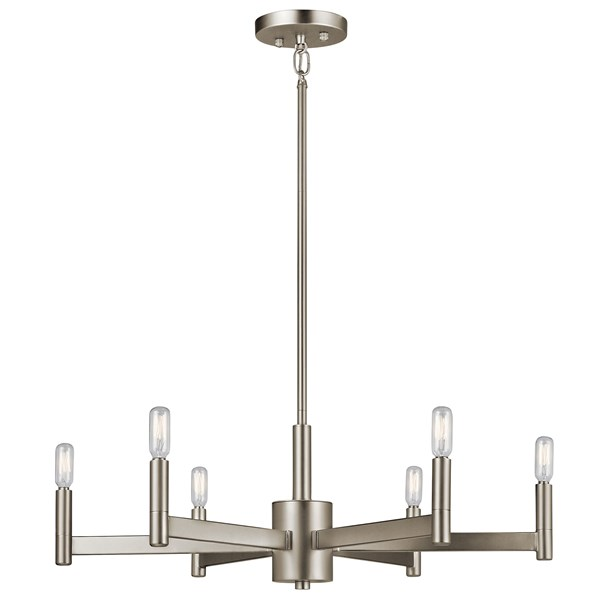 Erzo™ 6 Light Chandelier Satin Nickel