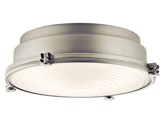 "Hatteras Bay 13"" LED Flush Mount Brushed Nickel"
