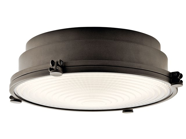 "Hatteras Bay 13"" LED Flush Mount Olde Bronze®"