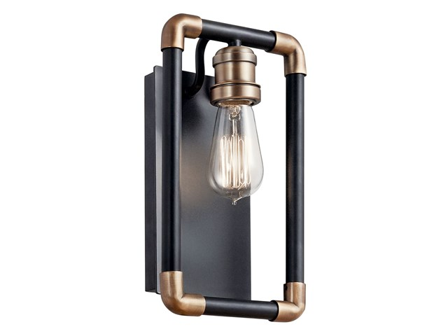 Imahn 1 Light Wall Sconce Black