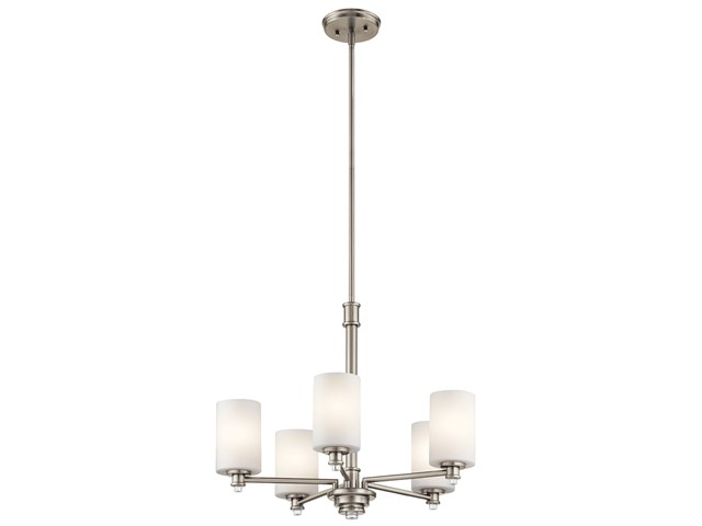 Joelson™ 5 Light Chandelier with LED Bulbs Brushed Nickel