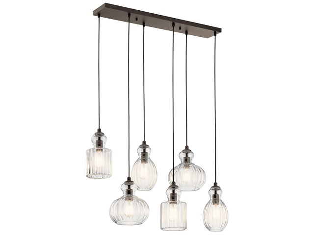 Riviera 6 Light Linear Chandelier Olde Bronze®