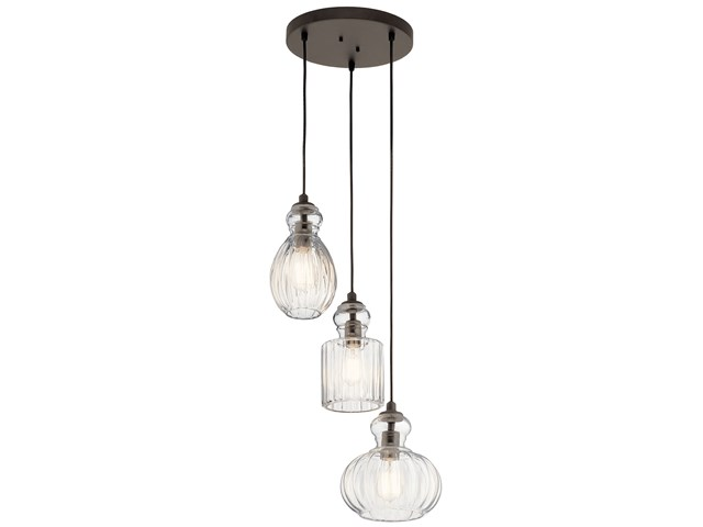 Riviera 3 Light Pendant Olde Bronze®