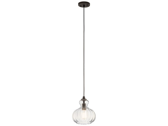 "Riviera 8.75"" 1 Light Mini Pendant Olde Bronze®"