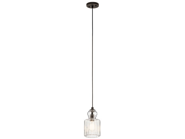 "Riviera 5.75"" 1 Light Mini Pendant Olde Bronze®"