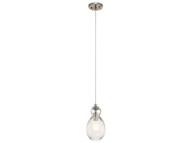 "Riviera 6"" 1 Light Mini Pendant Brushed Nickel"