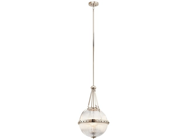 Aster 3 Light Pendant in Polished Nickel