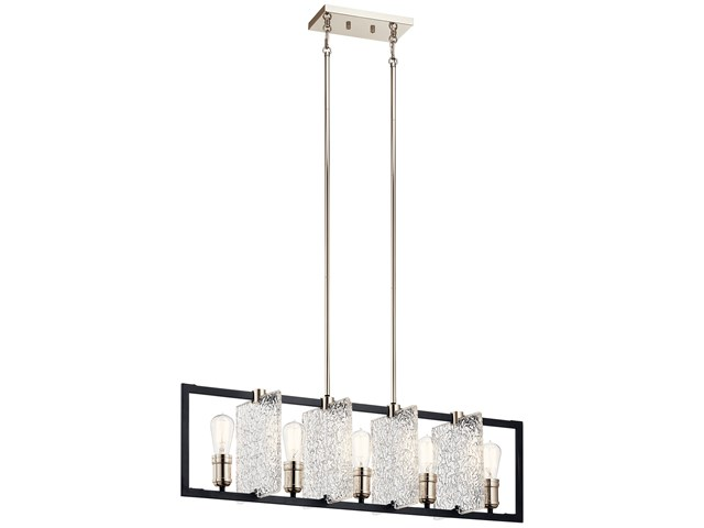 Forge™ 5 Light Linear Chandelier Black
