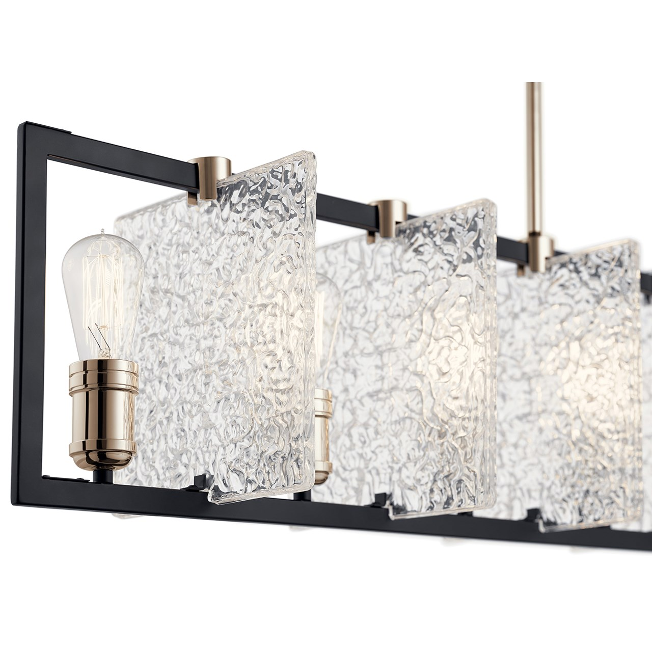 Forge™ 7 Light Linear Chandelier Black
