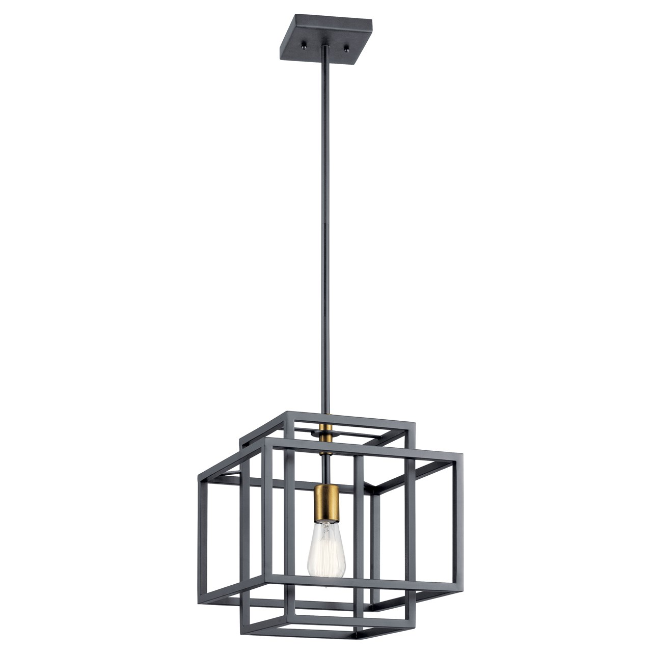 Taubert 1 Light Pendant Black