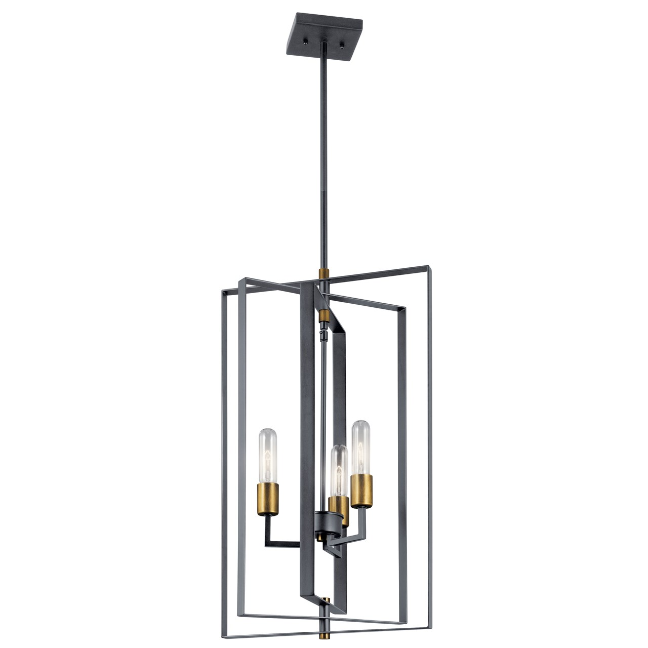 Taubert 3 Light Foyer Pendant Black