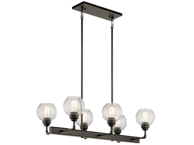 Niles 6 Light Linear Chandelier Olde Bronze®