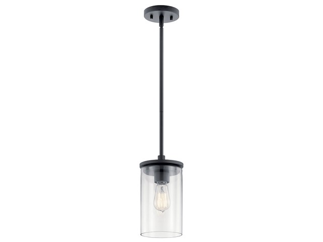Crosby 1 Light Mini Pendant Black